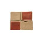 Portefeuille pliable toile/cuir - Carré Royal