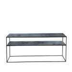 Charcoal Sofa Console-heavy aged2