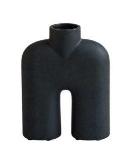 vase cobra tall mini black